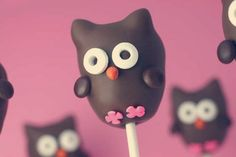 Owl Cake pops! Too cute