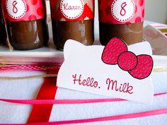 Hello Kitty food labels by 11cupcakes on Etsy, $6.50