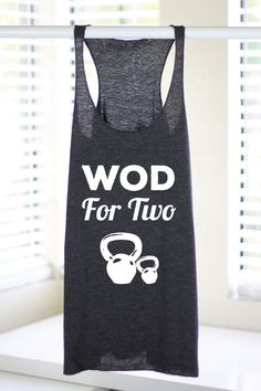 Wod For Two - Crossfit Tank Tops - Crossfit Tank - Crossfit Clothing - Crossfit Baby - Crossfit Mom - Maternity Workout Tank - Fitness Mom