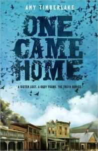 One Came Home by Amy Timberlake Gr 5-7 Georgie is sure her older sister Agatha has run away with a group of people following the passenger pigeon migration. And though no one else believes her, Georgie is determined to find Agatha even if it means traveling the Wisconsin frontier of the 1870s by herself. Good thing 13-year-old Georgie is an expert with a shotgun.—Marie Drucker, Malverne Public Library, NY #sljbookhook