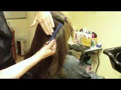 Long Layer Modern Shag Haircut: Hair Tutorial: Thin and Texturize to Decrease Bulk - YouTube