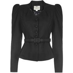 Diana Herringbone Blazer ($99) ❤ liked on Polyvore featuring outerwear, jackets, blazers, herringbone jacket, blazer jacket and herringbone blazer