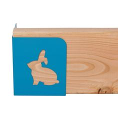 Blue Bunny raised garden bed corners.  This is a bunny that you actually want in your garden!
