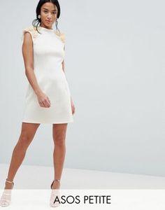 ASOS PETITE 3D Flower Shoulder Mini Shift Dress