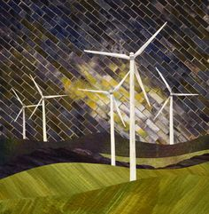 Gloria Loughman contemporary quilter, teacher and author (My daughter has 5 wind turbines 2 miles directly north of her home in Arvada - I love this!)