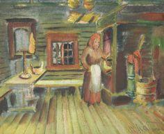 Kalle Aaltonen: Nainen tuvassa, öljymaalaus Painting, Art, Art Background, Painting Art, Kunst, Paintings, Performing Arts, Painted Canvas, Drawings