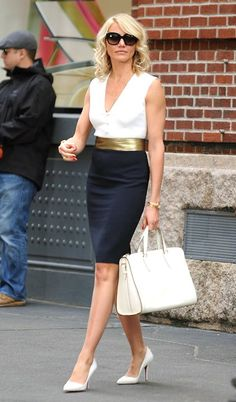 Cameron Diaz seen filming her latest movie The Other Woman on a location in New York City