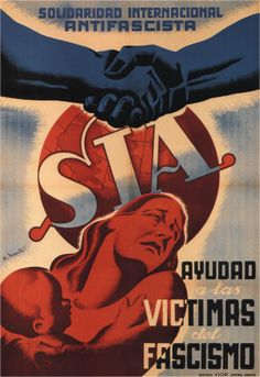 Spain - - GC - poster - @ By Vicente - Help the victims of fascism Old Poster, Revolution Poster, Spanish War, Spanish Posters, Ww2 Propaganda, Civil War Art, Political Posters, Vintage Advertisements, Civilization