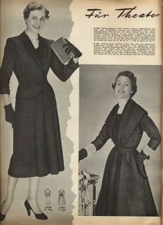 Two sophisticated 1950s styles. #vintage #1950s #fashion #dresses I love when women dressed as women and were treated as ladies.