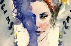 By Paolo Galetto, Alix Petit - Vogue.it - Watercolor on paper