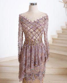 Gaun Dress, Dress Brukat, Hijab Dress Party, Dress Pesta, Batik Dress, Model Kebaya Modern, Kebaya Modern Dress, Kebaya Lace, Kebaya Dress