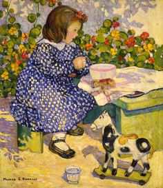 """""""Souper à Deux (Supper for Two),"""" 1912, is an oil on canvas by Portland native Mildred Burrage."""