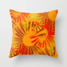 Spiced up Throw Pillow by Coenna - Cover x with pillow insert - Indoor Pillow Couch Pillows, Down Pillows, Designer Throw Pillows, Pillow Design, Spice Things Up, Pillow Inserts, Hand Sewing, Tapestry, Home Decor