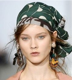 kitsch by kat: hair challenge day 10: how the wear a scarf in your hair
