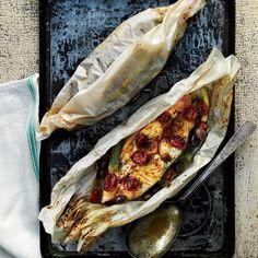 Halibut and Summer Vegetables en Papillote // More Seafood Recipes: http://www.foodandwine.com/slideshows/seafood #foodandwine #fwpinandwin