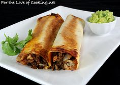 Oh my goodness, I super love flautas, but they're always fried... until now! Beef, Bean, and Pepper Jack Baked Flautas
