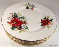 Royal Albert Christmas POINSETTIA Tea Dessert Plate Set of Eight. Christmas DishesChristmas DinnerwareChristmas ChinaChristmas ... & Lenox \u0026 Spode Christmas Dinnerware Collections #belk #holidays | A ...
