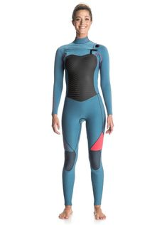 Roxy Performance 3 2mm - Chest Zip Full Wetsuit - Women - 10 - Blue e44ea60b4