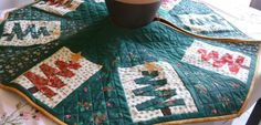Repin and Check out my other crafts:  CHRISTMAS TREE SKIRT  Main colors are Green by DonnaleesTreasures, $50.00