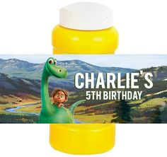 The Good Dinosaur Bubble Labels Birthday Party by PartiesByG