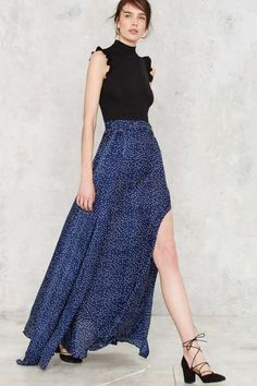 Wildfire Maxi Skirt - Polka Dot - Clothes