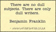 Quotable - Benjamin Franklin