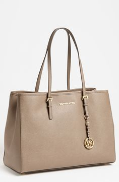Michael Kors, Jet Set Large Travel Tote, Dark Dune, $278