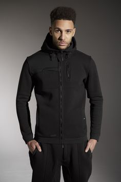 The 'HAZE' Hood - £55 - http://www.voijeans.com/blackout/haze-sweat-black.html