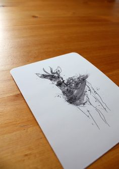Whimisical Deer Postcard Set of 12 by thehouseofhearts on Etsy, $12.00