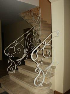 Belle rampe décorative, en fer forgé, pour escalier