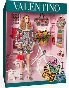 Valentino fashion doll by photographer Giampaolo Sgura, who staged the models Magdalena Frackowiak and Elisabet Erm in the manner of fake Barbies for magazine Vogue Paris #logo #fashion #parody - Carefully selected by GORGONIA www.gorgonia.it