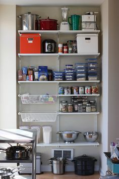 Algot pantry system Kitchen Dinning Room, Wood Floor Kitchen, Kitchen And Bath, Kitchen Box, Kitchen Pantry, Pantry Storage, Pantry Closet, Pantry Organization, Ikea Laundry