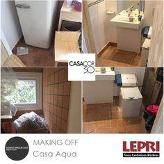 Making Off - Casa Cor SP 2016!  Espaço do arquiteto Rodrigo Loeb - Casa Aqua, parceria Lepri Finas Cerâmicas Rústicas.  Invecchiatto paglia 11,5x11,5 cm