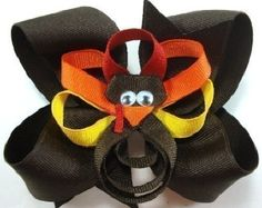 Happy Thanksgiving...Tom Turkey Boutique Hairbow