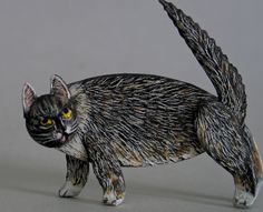 Fine Art Miniatures by Natasha, featuring shadow boxes, miniature paintings, painted sculptures, and dollhouse scale decorated period furniture. Decoupage Furniture, Miniature Furniture, Bad Cats, Dollhouse Accessories, Small Boxes, Pet Portraits, Art Dolls, Sculpting, Dog Cat
