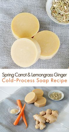 Learn how to make your own cold process Spring Carrot & Lemongrass Ginger Soap