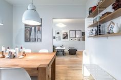 White kitchen style added with warm wood