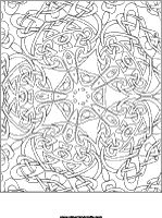 Celtic Kaleidoscope printable coloring page
