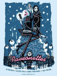 The Raveonettes Concert Poster by Guy Burwell