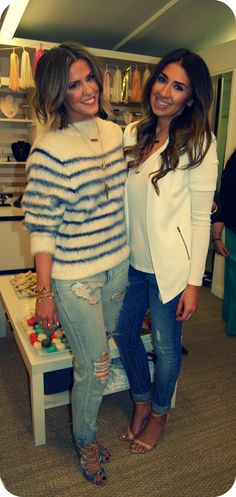 Courtney Kerr and Tori Gonzales in Houston. #Fashion #CourtneyKerr