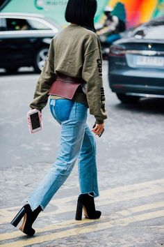 See the jeans hemline. It's a thing. Photo: Jonathan Daniel Pryce