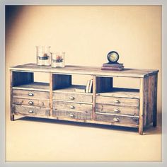 100 Wood and Handmade Rustic Style TV Stand by MAYHEMFURNITURECO