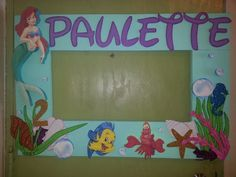 Little mermaid  photo booth  frame