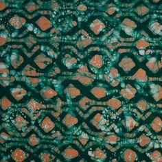 Batik Fabric Dark Orange & Dark Green Craft, Fabrics, Textiles, Orange, Dark, Sewing, Green, Tejidos, Dressmaking