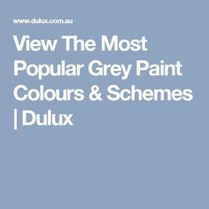 View The Most Popular Grey Paint Colours & Schemes | Dulux