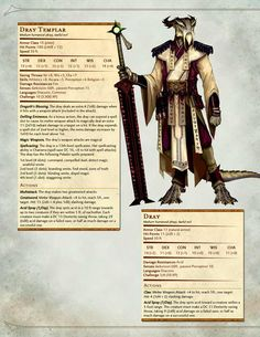 The Dread Lord Dregoth and Dray (Dark Sun) - Imgur Monster Characters, Dnd Characters, Fantasy Characters, Dnd Druid, Dnd Races, Dungeons And Dragons Homebrew, Mythological Creatures, Fantasy Creatures, Dnd 5e Homebrew
