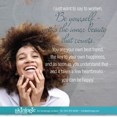 Be yourself - its the inner beauty that counts For more information or bookings please contact info Health Motivation, Girl Model, Aesthetics, Take That, Inspirational Quotes, Weight Loss, Beauty, Beautiful, Beleza