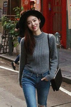 Angora Golgi Turtleneck Knit | Korean Fashion