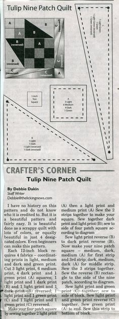 'Tulip Nine Patch Quilt'