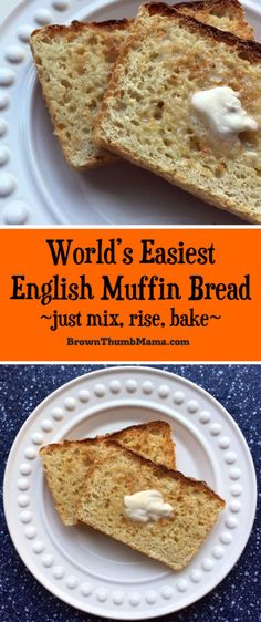 If you want to make English muffins but the traditional method is too much work--English Muffin Bread is perfect for you! Just mix, rise, and bake! #EnglishMuffin #baking #recipe